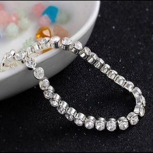 New 3mm Silver Crystal Zircon Chain Bracelet